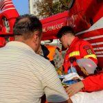 Foto: Video. Intervenția echipajului Smurd Iași pentru moldoveanca care a suferit în explozia din Fălești