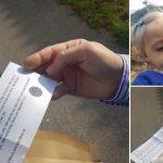 Foto: Mesajul emoționant pe care l-a primit un tată în prima zi de școală a fiicei sale