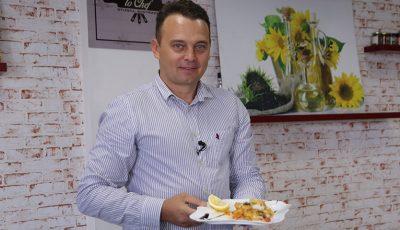Pește la cuptor cu legume, de la Sergiu Bejenari