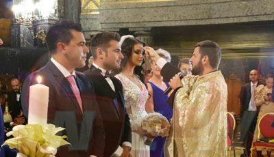 Primele imagini cu soţia lui Adrian Mutu în rochia de mireasă