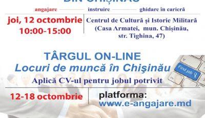 Pe 12 octombrie, vino la Târgul locurilor de muncă din Chișinău! Iată ce oferte te așteaptă