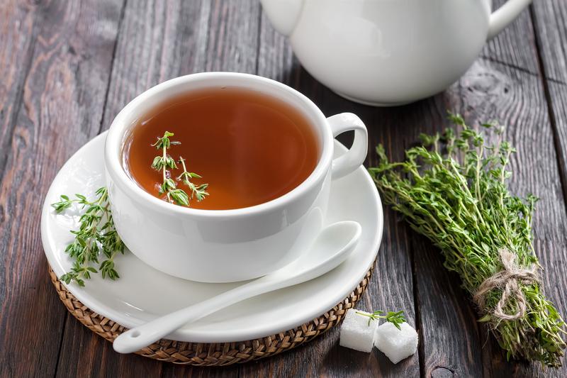 ceai de cimbru seara