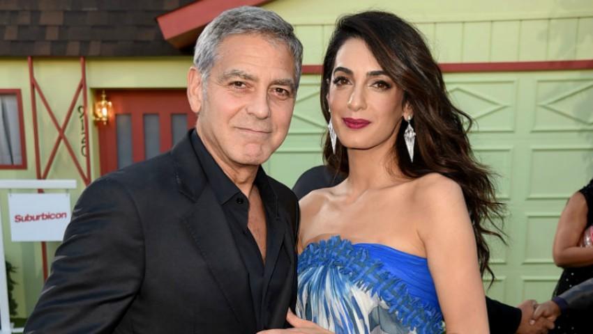 Foto: George Clooney și-a dus soția, dar și soacra, la premiera ultimului său film