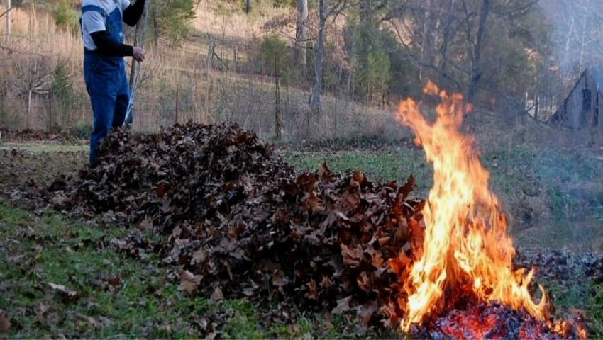 Foto: Atenție, nu dați foc la frunze! Vă așteaptă amenzi usturătoare