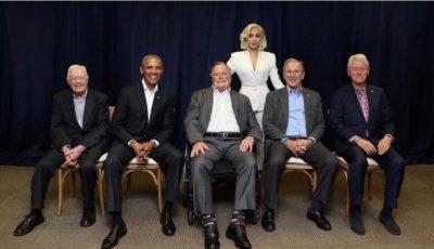 Lady Gaga a reușit să adune laolaltă cinci foști președinți americani