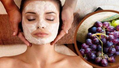 Mască cu struguri pentru revitalizarea pielii uscate