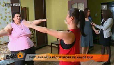 Svetlana Cveatcovscaia slăbește cu exerciții fizice alături de instructorul Unica Sport. Vezi ce i-a recomandat Galina Tomaș!