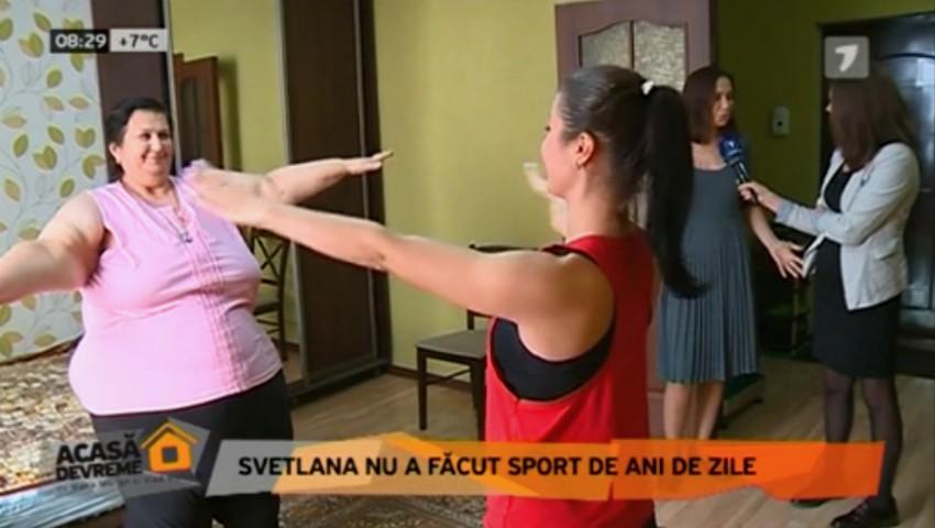 Foto: Svetlana Cveatcovscaia slăbește cu exerciții fizice alături de instructorul Unica Sport. Vezi ce i-a recomandat Galina Tomaș!