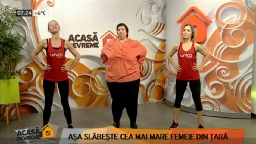 """Foto: Svetlana Cveatcovscaia, în vizită la ,,Acasă Devreme""""! Iată ce exerciții fizice face pentru a slăbi"""