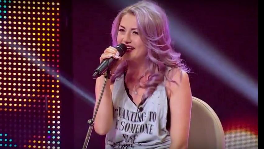"""Vera Țurcanu, din Ialoveni, a luat patru de ,,DA"""" la X Factor. Tânăra a interpretat o piesă rock"""