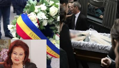 Actrița Stela Popescu a fost înmormântată cu onoruri militare. Foto/video de la funeralii