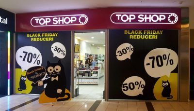 Reduceri până la -70% la Top Shop, doar de Black Friday! Doar mâine, ai posibilitatea să profiți de cele mai bune prețuri ale acestui an
