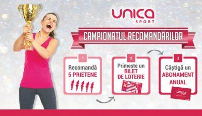 Campionatul Recomandărilor la UNICA SPORT! Participă și câștigă 1 abonament anual