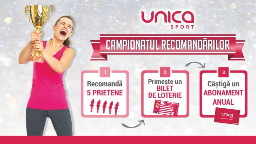 Foto: Campionatul Recomandărilor la UNICA SPORT! Participă și câștigă 1 abonament anual