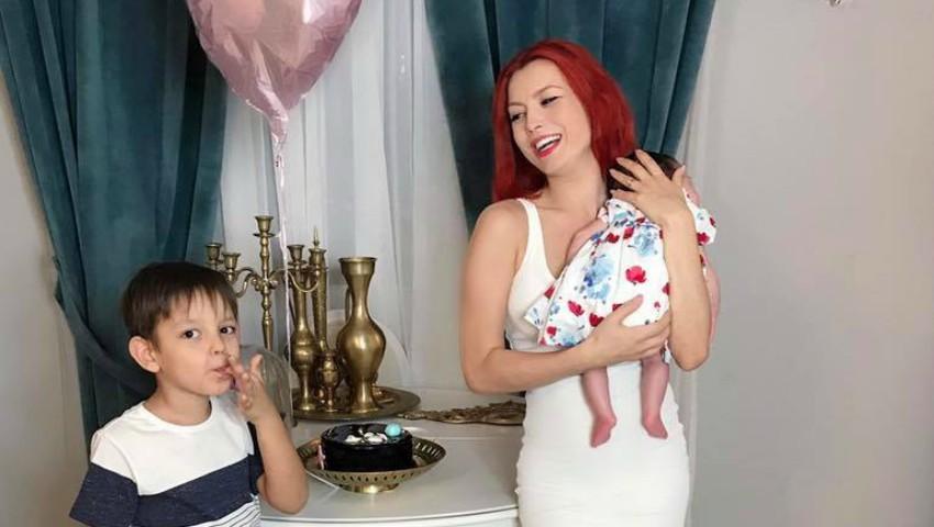 Foto: Elena Gheorghe a organizat prima ședință foto cu fetița! Poze