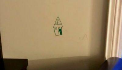 Vezi ce a făcut o mamă după ce fiul ei a desenat cu carioca pe perete