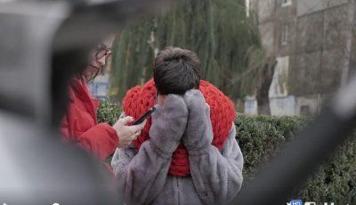 Emoții și lacrimi de dor! Cum și-a surprins fiica o moldoveancă revenită din străinătate