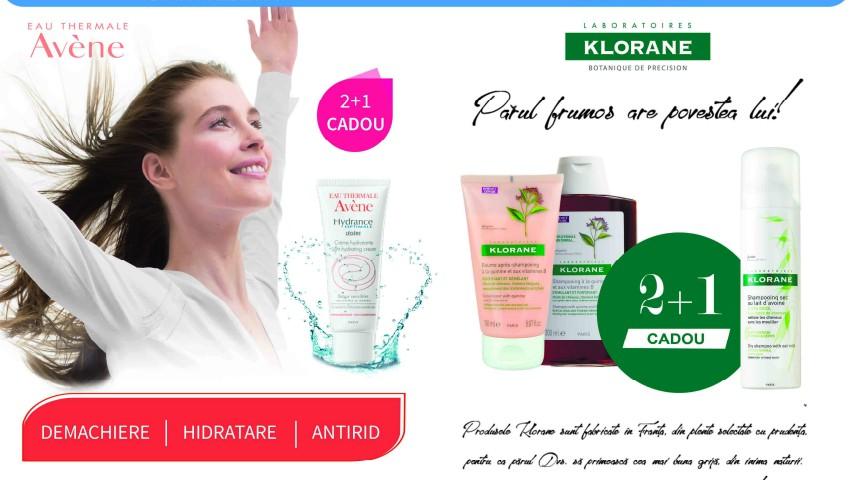 Foto: Grăbește-te! Super ofertă: iată cum poți să primești cadou șamponul uscat Klorane sau crema hidratantă Avene!