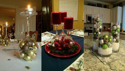 Decorațiuni inedite de Crăciun pe care le poți face cu ajutorul paharelor. Ce frumusețe!