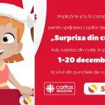 """Foto: Fii Moş Crăciun pentru cei mai nevoiaşi ca tine. A început campania de caritate """"Surpriza din cutie"""""""