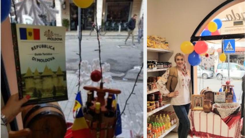 Foto: O moldoveancă și-a deschis propriul magazin cu produse autohtone în Italia