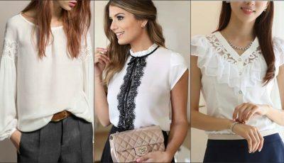 18 modele de bluze albe și cămăși care vor fi mereu în tendințe!