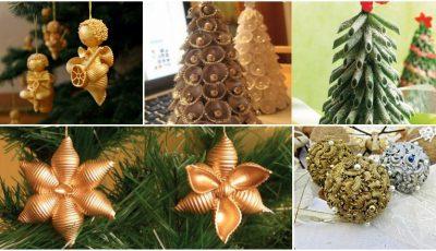 Decorațiuni pentru pomul de Crăciun pe care le poți confecționa singur!