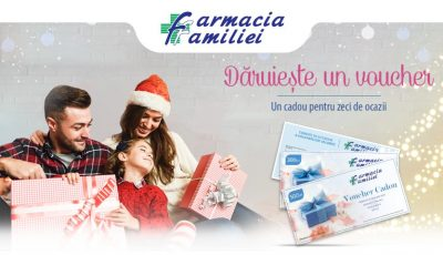 """Alege să oferi un voucher cadou """"Sănătate și frumusețe"""" de la Farmacia Familiei"""