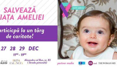 Târg caritabil de Crăciun!!! Vino și tu să salvezi viața Ameliei