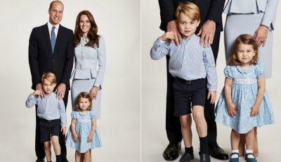 Palatul Kensington a postat felicitarea de Crăciun a Ducilor de Cambridge