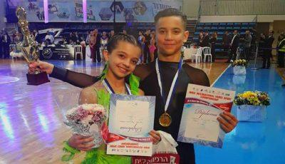 """Moldova a obținut medalia de aur la concursul de dans din Israel, categoria """"Junior 1"""", secțiunea latino!"""