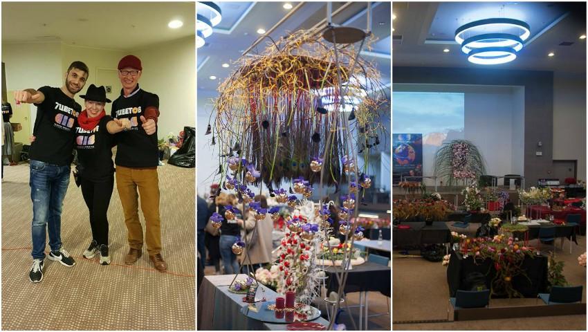 Foto: Un tânăr din Moldova a câștigat simpatia publicului la un concurs internațional de floristică