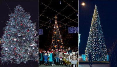 Cei mai spectaculoși brazi de Crăciun din Capitală. Iată care sunt ei!