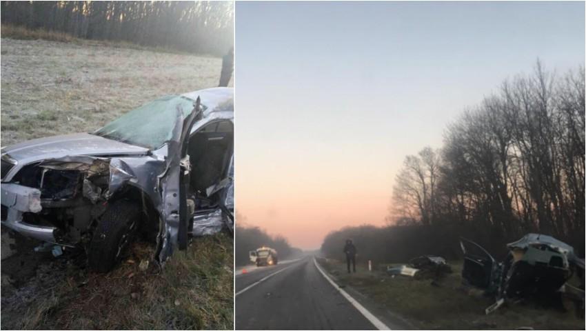Foto: Accidentul groaznic de pe traseul Chișinău-Leușeni: cei doi pasageri erau soț și soție și se pregăteau de nuntă