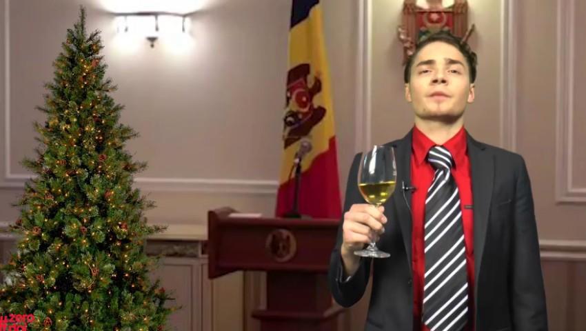 Foto: O nouă parodie marca #Zerodoi: mesajul de Revelion al președintelui Republicii Moldova