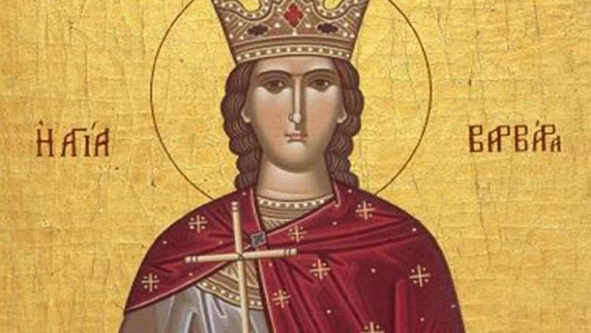 Tradiţii de Sfânta Varvara, sora sfântului Nicolae