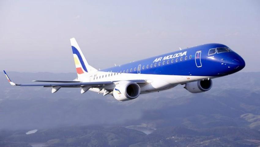 Foto: Un avion de pe cursa Chişinău-Verona a fost întors din zbor din cauza unei fisuri în parbriz