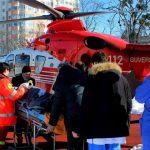 Foto: Un tânăr din Chișinău cu picioarele amputate a fost transportat cu elicopterul la București