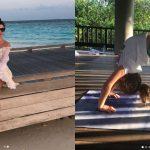 Foto: Jasmin cu copiii în vacanță, pe o insulă exotică! Fiica interpretei este talentată la gimnastică