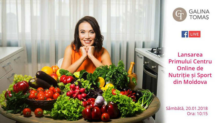 Foto: Galina Tomaș lansează Primul Centru Online de Nutriție și Sport din Moldova!