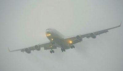 Probleme la Aeroport din cauza ceții dense