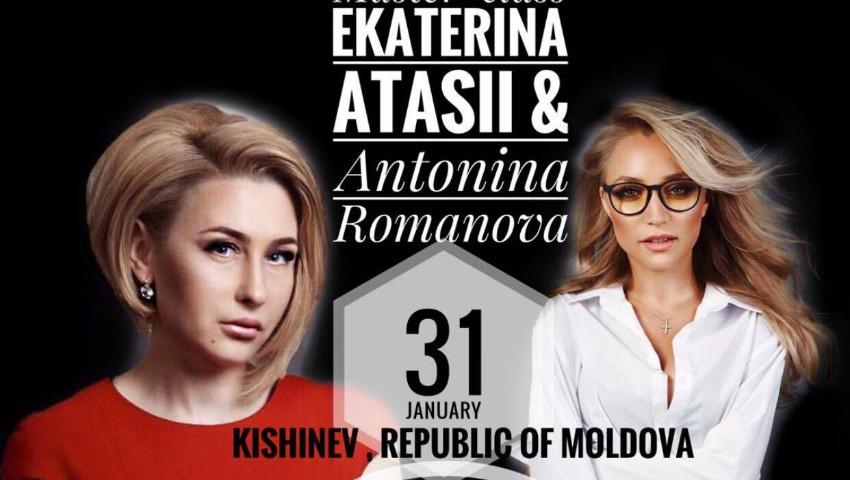 "Foto: Ekaterina Atasii & Antonina Romanova te invită la master class-ul ""Her Majesty – secrete și coafuri""!"