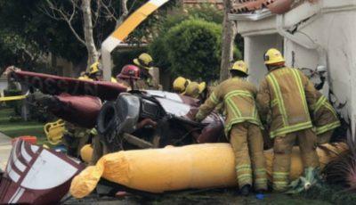 Trei oameni au murit după ce un elicopter s-a prăbușit peste o casă din California