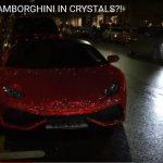 """Foto: O moldoveancă stabilită în Anglia și-a ,,tunat"""" mașina cu cristale Swarovski"""