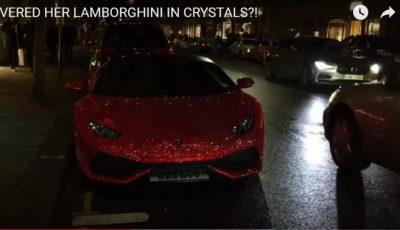 """O moldoveancă stabilită în Anglia și-a ,,tunat"""" mașina cu cristale Swarovski"""