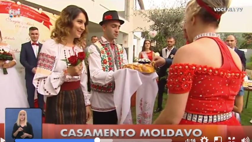 Foto: O nuntă moldovenească din Portugalia a devenit subiect de știre la o televiziune locală