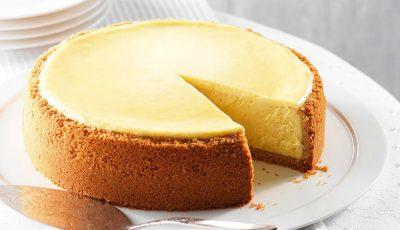 Cheesecake cu brânză și smântână – fără coacere