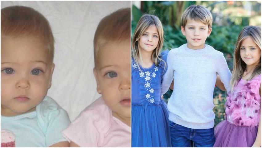 Au împlinit deja 7 ani și sunt considerate cele mai frumoase gemene din lume