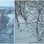 Foto: E iarnă în Moldova! Nămeți și drumuri înzăpezite