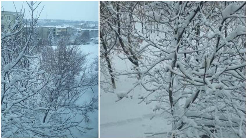 E iarnă în Moldova! Nămeți și drumuri înzăpezite